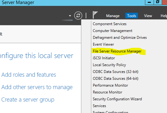 Using the Windows File Server Resource Manager to Protect